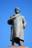 Architecture of Rybinsk town, Russia. Monument to Vladimir Lenin Stock Image