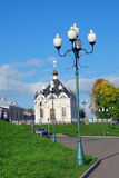 Architecture of Rybinsk town, Russia. Saint Nicolas Chapel. Royalty Free Stock Photography