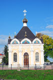 Architecture of Rybinsk town, Russia. Saint Nicolas chapel. Royalty Free Stock Images