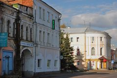Architecture of Rybinsk town, Russia. Stock Photos