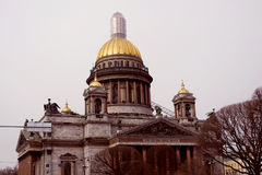 Architecture of Saint-Petersburg, Russia. Saint Isaak`s cathedral Royalty Free Stock Photo