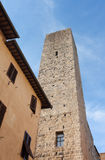 Architecture of San Gimignano, small medieval village of Tuscany Stock Image