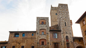 Architecture of San Gimignano, small medieval village of Tuscany Stock Photography
