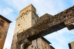 Architecture of San Gimignano, small medieval village of Tuscany Royalty Free Stock Photography