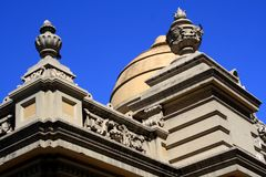 Architecture at Santa Lucia Hill in Santiago, Chile. Stock Image