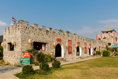 Architecture of Santichon chinese village Royalty Free Stock Photos