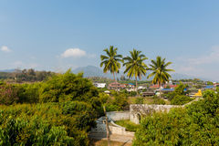 Architecture of Santichon chinese village Royalty Free Stock Image