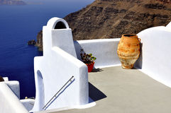 The architecture of Santorini Royalty Free Stock Photos