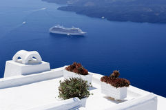 The architecture of Santorini Stock Photography