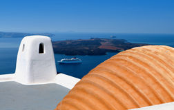 Architecture of Santorini in Greece Stock Photography