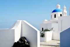 Architecture in Santorini, Greece  Royalty Free Stock Photos