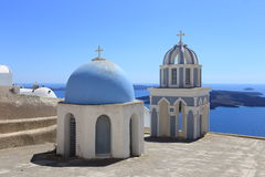Architecture of Santorini, Greece Royalty Free Stock Images