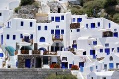 Architecture on Santorini island Stock Photography