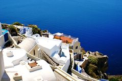Architecture on Santorini island Royalty Free Stock Image