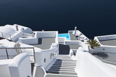 Architecture of Santorini island on Greece Stock Photos