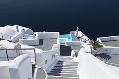 Architecture of Santorini island on Greece. Typical architecture design of Imerovigli village at Santorini island in Greece Stock Photos