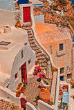 Architecture on Santorini island Stock Images