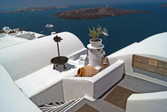 Architecture on Santorini island Royalty Free Stock Photography