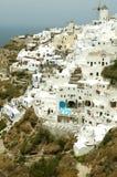 Architecture on Santorini Island. Architecture and landscape with sea on Santorini Island Stock Photos