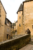 Architecture and Sculpture of Sarlat Stock Photo