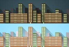 Architecture seamless pattern. Horizontal banner. Royalty Free Stock Image