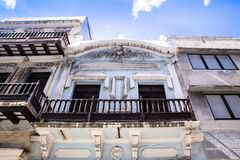 Architecture seen from Old San Juan Puerto Rico royalty free stock photo