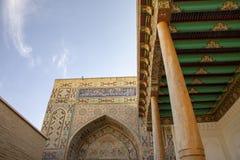 Architecture at the Shah-i-Zinda Ensemble, Samarkand, Uzbekistan stock image