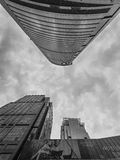 Architecture in Shanghai business district Stock Photography