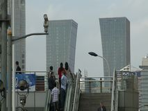 Architecture of Shanghai city stock video footage
