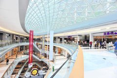 Architecture of shopping mall. Interior of modern multilevel shopping mall,kingkeymall,shenzhen,china Stock Photo
