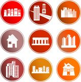 Architecture sign icons Royalty Free Stock Photos