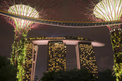 Architecture Singapour de nuit Photo stock