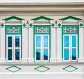 Architecture Sino-portugaise de beaucoup les bâtiments dans la ville de Phuket Photographie stock libre de droits
