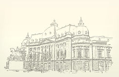 Architecture. Sketch. Drawing of building Royalty Free Stock Images