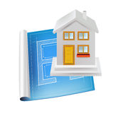 Architecture sketch and house isolated Stock Photo