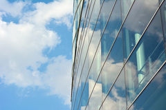 Architecture with Sky and Cloud Reflection Royalty Free Stock Images