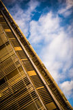 Architecture in the sky. Photo taken in La Plata, Argentina. Administrative building of the local government royalty free stock images