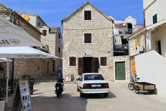 Architecture of a small old seaside Croatian town Royalty Free Stock Photos