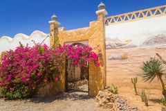 Architecture of the small village on the desert. Egypt Royalty Free Stock Photo