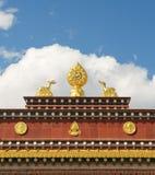 Architecture of songzanlin tibetan monastery. Architectural details of songzanlin tibetan monastery, shangri-la, china Stock Image