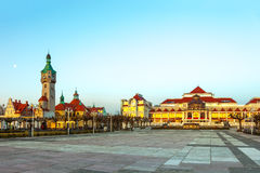 Architecture of Sopot. Beautiful architecture of Sopot at early morning, Poland Royalty Free Stock Images
