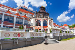 Architecture of Sopot at the Molo in Poland. SOPOT, POLAND - 7 JUNE: Architecture of Sopot at the Molo on 7 June 2014. Sopot is major health and tourist resort Stock Photo
