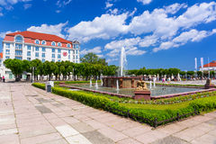 Architecture of Sopot at the Molo in Poland Stock Photography