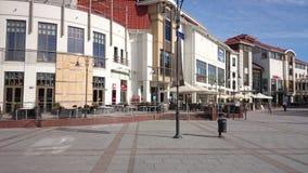 Architecture in Sopot. Monte Cassino street in Sopot, Poland stock photo