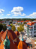Architecture of Sopot, Poland. Aerial view of the beautiful architecture of Sopot, Poland Stock Images