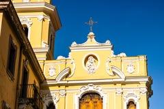 Architecture of Sorrento, Italy. Sorrento is a popular touristic destination on the Amalfi Coast.  stock photo