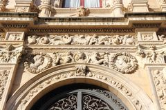 Architecture in Spain. Seville, Spain - Plateresque style architecture of Casa Consistorial City Government building Royalty Free Stock Photo
