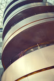 Architecture spiral. Spiral escalator at the shopping mall Royalty Free Stock Images
