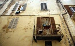 Architecture Spoleto. Nice facade with balcony Spoleto, Umbria, Italy Royalty Free Stock Images