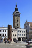 Architecture at the square in historic center of Royalty Free Stock Photography